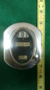 Antique 1920s Stewart Warner Speedometer Odometer Hot Rat Rod Original Gauge Old