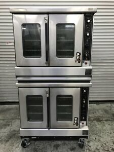 Double Stack Gas Convection Oven Bakery Montague Vectaire 9409 Commercial Bake