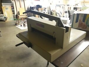 Vintage Ideal Triumph Guillotine Paper Cutter 3600 1985 W Replacement Blade