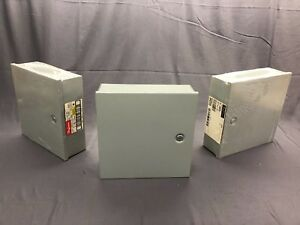 Hoffman Electrical Enclosure Junction Box A 12n124 Hinged Cover 12x12x4 New