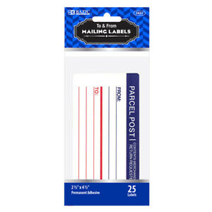 New 401975 Mailing Label 25 Pack 24 pack Office Supply Wholesale
