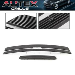 3 Billet Grille Grill Combo Insert For 2011 2014 Chevy Silverado 2500 Hd 3500 Hd