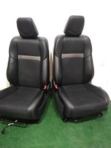 12 13 14 15 16 17 Camry Black Leather Front Bucket Seats L R Oem