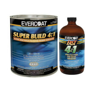Evercoat Automotive Polyester Primer Kit 730 Super Build 1 Gallon With Catalyst