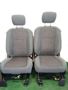 13 14 15 16 17 Dodge 1500 2500 Gray Cloth Front Bucket Bench Seats L R