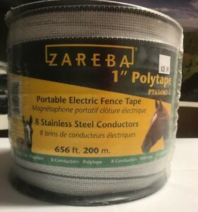 Electric Fencing Zareba 656 ft Polytape 1 inch highly Visible To Animals Horses