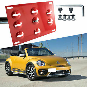 Tow Hook License Plate Bumper Mount Bracket Relocator Kit For Vw Beetle 2012 18