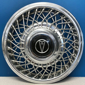 One 1987 Pontiac Bonneville 5091 14 Wire Hubcap Wheel Cover 01632242 Used