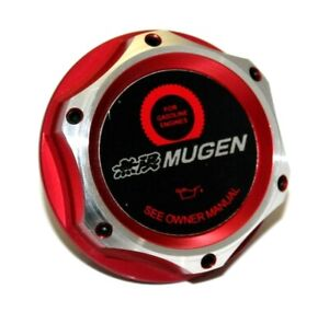 Jdm Mugen Honda Acura Red Billet Engine Oil Cap Civic Accord S2000 Crx Crz