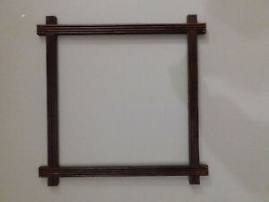 Arts And Crafts Picture Frame Antique Kitschy Mission Style