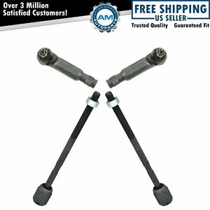 Front Inner Outer Tie Rod Kit Set Of 4 For Ford Mercury Lincoln New