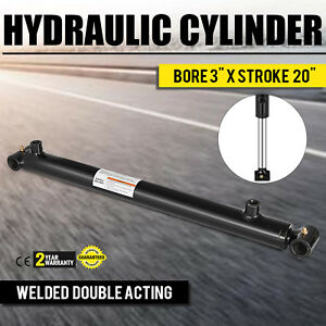Hydraulic Cylinder 3 Bore 20 Stroke Double Acting Suitable Cross Tube Sae 8