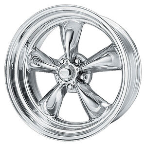 15x8 American Racing Torq Thrust Ii 2 Polished Wheel 5x4 5 Vn5155866 0 Offset