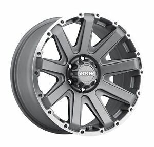4 New 20x9 10 Mkw Offroad M94 Anthracite Grey Wheels Rims 6x135