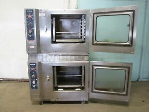 alto shaam 7 14mlgs Commercial Hd Natural Gas Double Stacked Combitherm Ovens