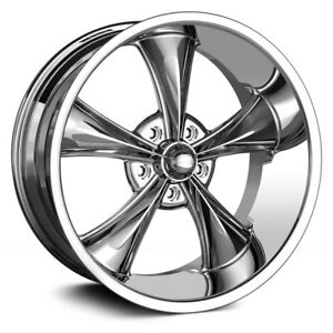 22x9 Ridler 695 Chrome Intage Original Hot Rod Thrust Mag Wheel 5x5 22
