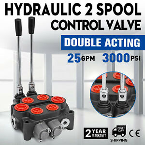 2spool 25gpm Rd522ccaa5a4b1 Hydraulic Valve Tractors Loaders Tanks Double Acting