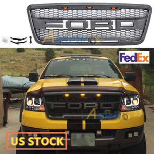 For 2004 2008 Ford F150 Raptor Style Front Hood Grille Conversion W F