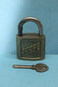 Vintage Reese Brass 6 Lock W Key Marked 806 Made In Usa