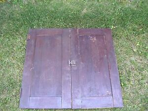 Antique Vintage Pair Cabinet Doors From Old School Chemistry Lab 30 Tall