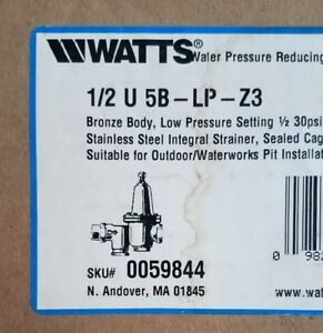 new Watts 0059844 1 2 U 5b lp z3 Water Pressure Reducing Valve