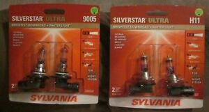 New Sylvania Silverstar Ultra 9005 H11 Su 2 Hi Lo Beam 4 Brand New Bulbs
