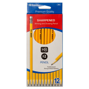 New 362310 Pencil 2 Pre sharpened 12pc 761 24 pack School Supplies
