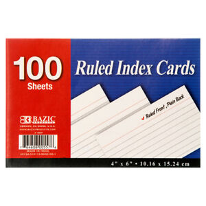 New 317318 Index Card 4x6 100ct bazic 24 pack Index Cards Cheap Wholesale