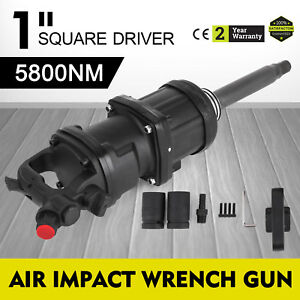 4280 Ft Lbs 1 Air Impact Wrench Long Shank Hammer Pro 8inch Free Warranty