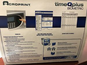 Acroprint Timeqplus Biometric Time And Attendance System Time Clock