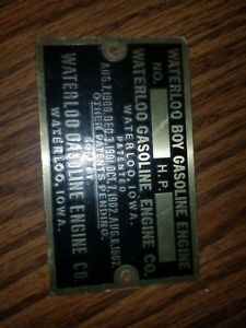 Waterloo Boy Hit And Miss Engine Tag