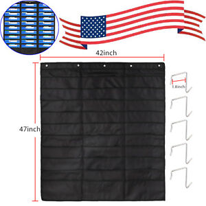 30 Pockets Heavy Duty Storage Pocket Chart Files Organizer 5 Over Door Hangers