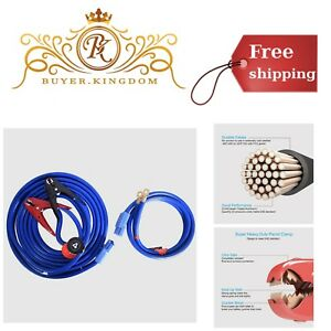 Battery Jumper Cables With Quick Plug 1 Gauge 25ft 700amp Pure Copper Clamp Jaw