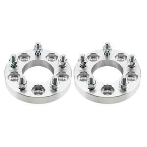 2 Wheel Spacers Adapters 5x4 5 To 5x4 75 1 Inch Thick 5x114 3 To 5x120 12x1 5