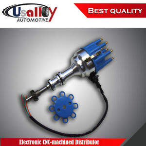 Suits Ford 351c 351m 400 460 Electronic Cnc machined Distributor With Blue Cap