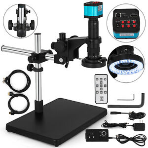 Microscope Video Camera Set System 14mp Hdmi Usb Industry C mount Lens Stand Kit