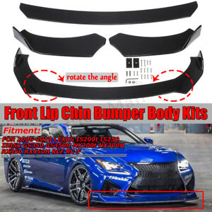 Front Bumper Lip Chin Body Kit Spoiler For Lexus Is250 Is350 Nx300h Rcf Rc F