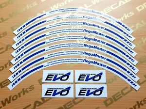 Blue 16 Inch Regamaster Evo Desmond Rim Replacement Mags Decal Sticker Emblem