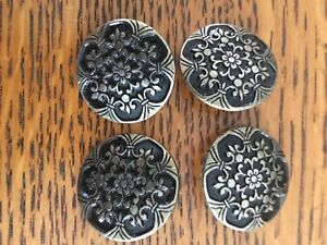 Set Ornate Victorian Dress Buttons Pewter