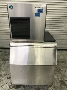 492 Lb Flaker Ice Maker New Machine On Used 400 Lb Bin Hoshizaki F 450maj 9