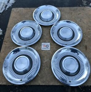 1959 Lincoln Premiere 14 Wheel Covers Hubcaps Lot Of 5