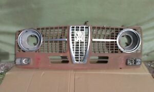 1950 s Saab Grill Nice Original With Attaching Parts Headlight Rings Etc