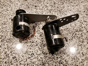 Lot Of 2 Moroso Electric Water Pump Drive Motor And Bracket 4 Ford Chevy Mopar