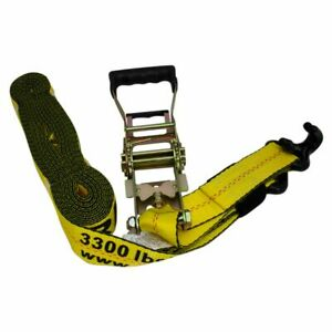 Erickson Yellow 2in Wide X 27ft Long 10 000lb Slide Ratchet Strap Tie Down New