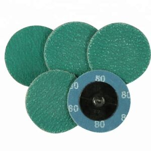 25 Pack 2 Roll On Roloc Discs Green Zircon 50 Grit Usa Made