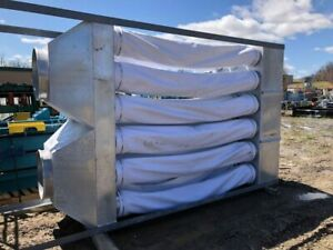 Used Dust Collector Bag House Rotary Air Lock 18 filter Paper Trim sawdust