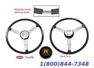 banjo Style Vintage Steering Wheel Kit Black Vw Bug Porsche 356 Empi 79 4059