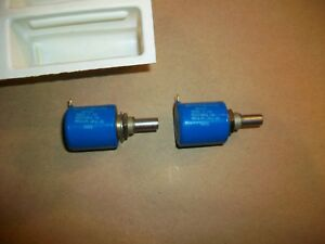 2pc Bourns 3500s 2 103 10 Turn 10k Ohm Potentiometer New