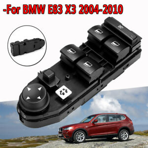 Driver Window Lifter Mirror Switch Control Black Fits For Bmw E83 X3 2004 2010