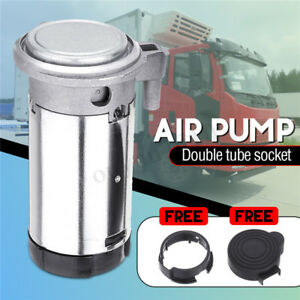 178db Dual Trumpet Loud Air Horn Compressor Pum Kit Fit For Motorcycle Truck Car